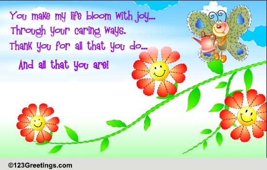 Your Caring Ways Free Family Ecards Greeting Cards 123 Greetings