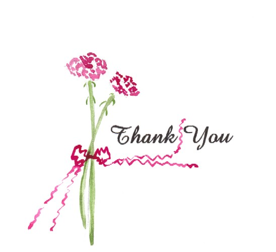 Hand Painted Thank You Note Free Flowers Ecards Greeting Cards