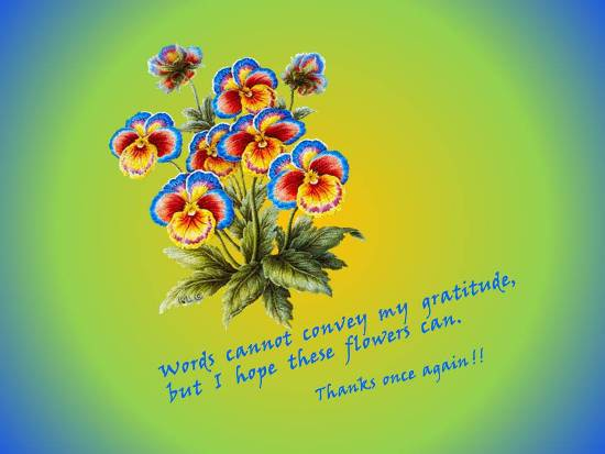 Convey Thanks In A Floral Way.