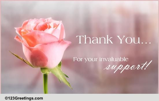 although thanks is not enough  free flowers ecards