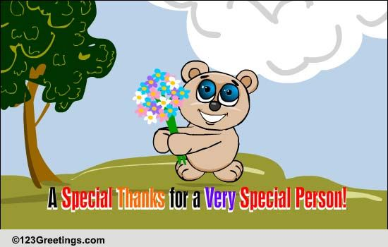 Special Thanks For A Special Person. Free Flowers ECards