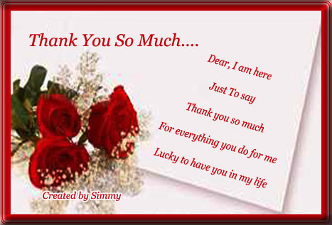 Just To Say Thank You.