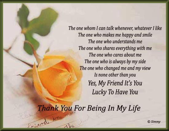Thank You My Friend Free Friends Ecards Greeting Cards