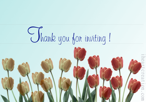 Thank You For Inviting. Free Invitations eCards, Greeting Cards | 123 Greetings