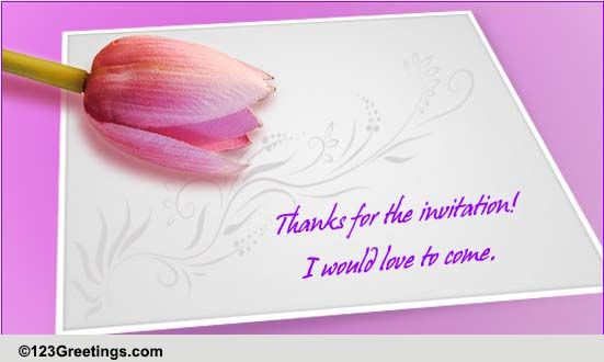 Thank You Invitations Cards, Free Thank You Invitations Wishes | 123 Greetings