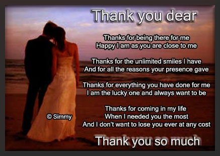 Thank You Dear. Free For Your Love eCards, Greeting Cards ...