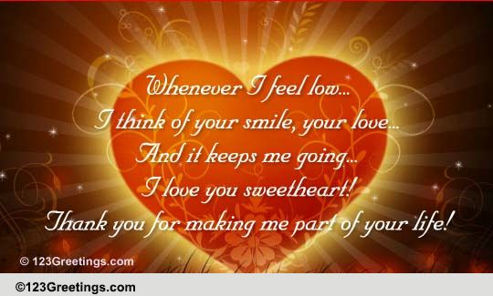 thank you sweetheart  free for your love ecards  greeting