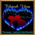 Thank You My Love Ecard.