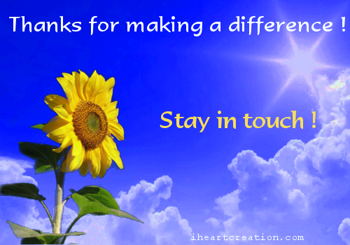 For Making A Difference Free Stay in Touch eCards