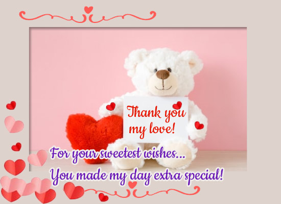 You Made My Day Extra Special!