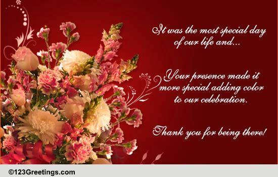 Thank You E-card. Free Wedding & Anniversary eCards ...