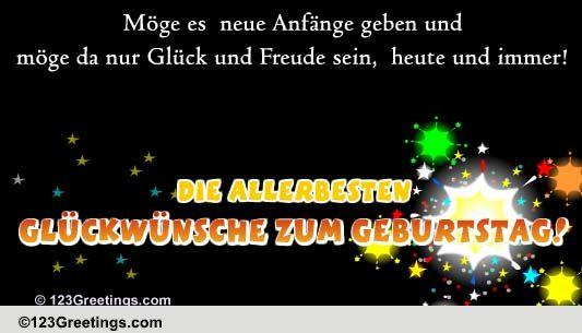 German Geburtstag Cards, Free German Geburtstag eCards, Greeting Cards ...