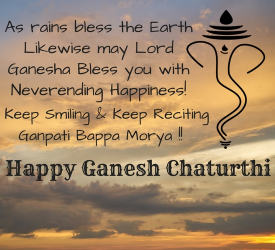 Ganesh Chaturthi Blessings.