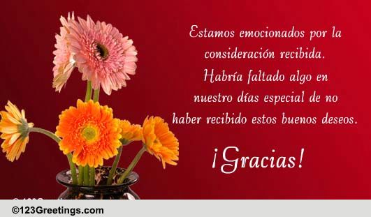 spanish gracias cards, free spanish gracias ecards, greeting cards, Birthday card