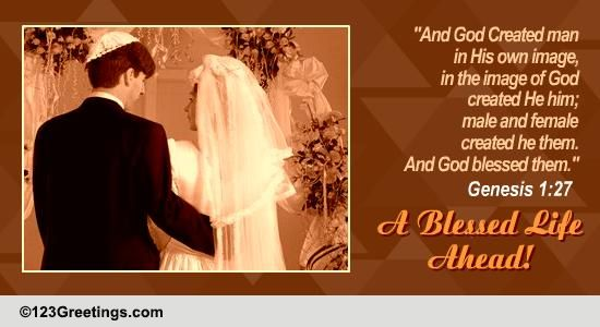 A Jewish Wedding Card. Free Around the World eCards ...
