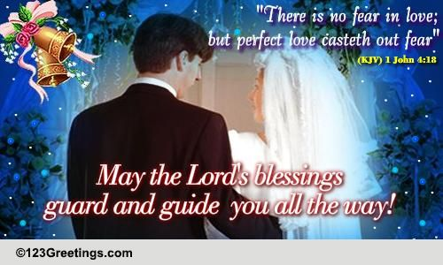 A Card On Christian Wedding Free Around The World Ecards  Greetings