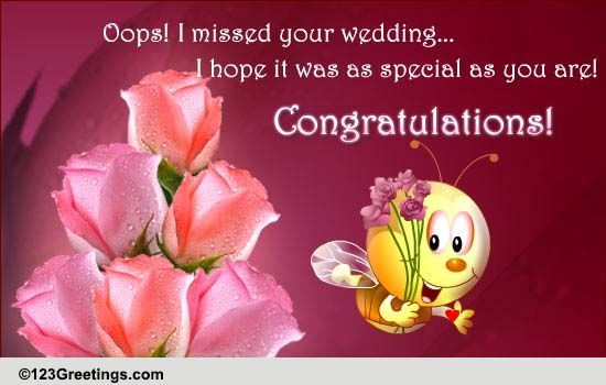 Belated Wedding Gift Message : Oops... Im Late! Free Belated Wishes eCards, Greeting Cards 123 ...