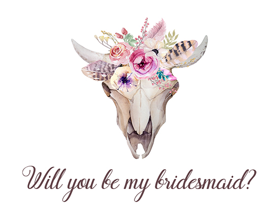 Boho Style. Will You Be My Bridesmaid?