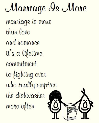 Marriage Is More A Funny Poem Free Congratulations Ecards 123