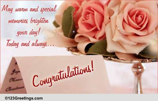 Wedding Wishes! Free Congratulations Ecards, Greeting Cards | 123