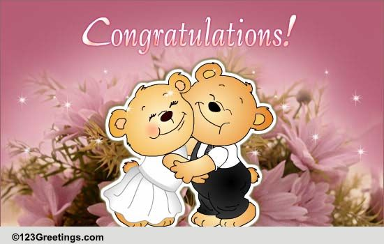 Newly Married Couple Free Congratulations ECards Greeting Cards