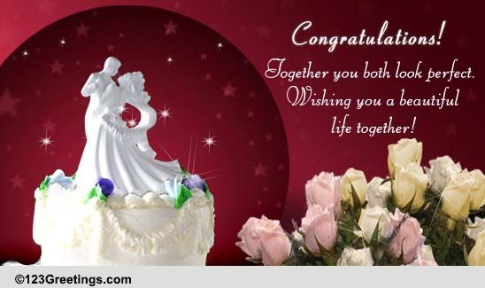 Wedding Congratulations Cards Free Wedding