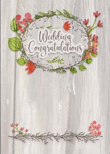 rustic wedding congratulations wreath  free