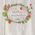 Rustic Wedding Congratulations Wreath.