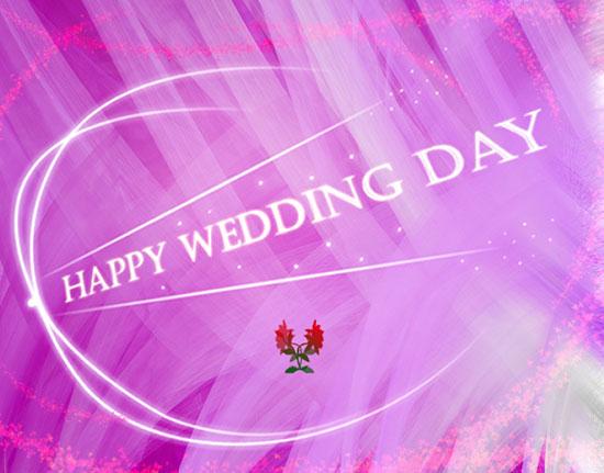 Happy Wedding Roses & Sparkles.