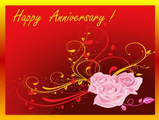 A Beautiful Wedding Anniversary Card. Free Happy ...