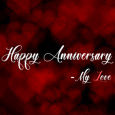 Happy Anniversary With Hearts.
