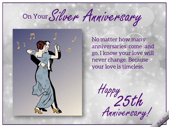 Silver Anniversary Wishes.