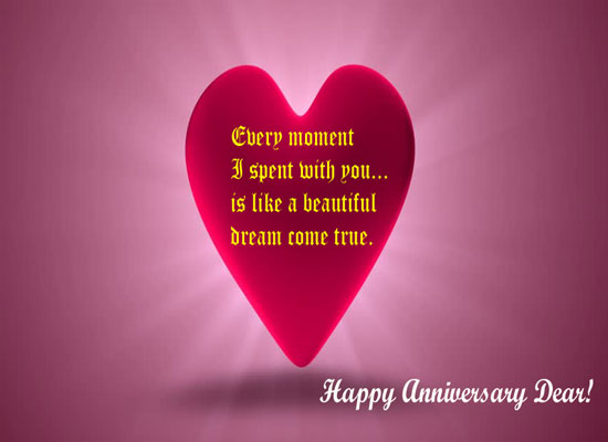 Beautiful Anniversary Message.