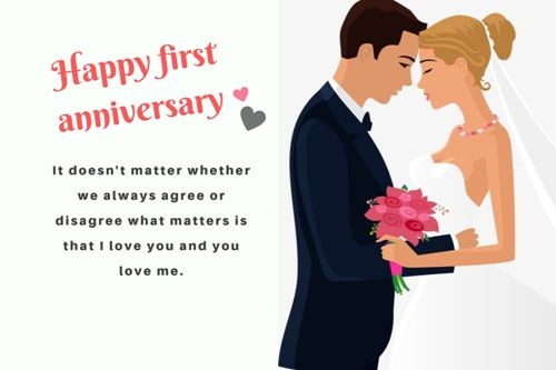 First Anniversary Wishes.