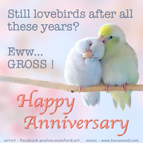 Still Lovebirds Anniversary.