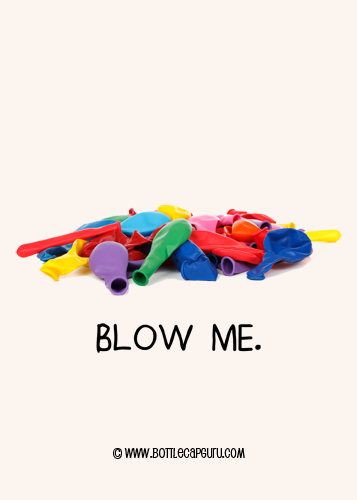 Funny Birthday Balloon Card - Blow Me!