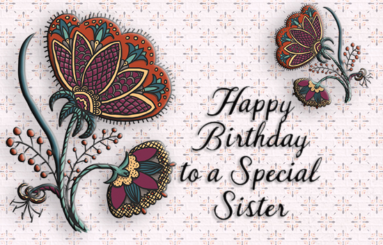 A Special Birthday Wish For Sister.