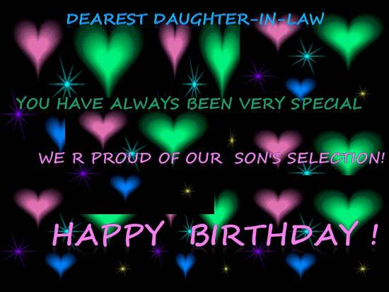 Birthday Wish For Daughter In Law Free Extended Family Ecards 123