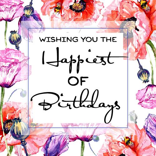 Watercolor Peonies Happy Birthday Free Flowers Ecards
