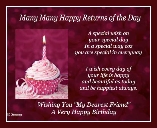 Special Wish For A Special Friend.