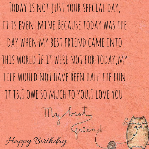 Today Is Not Just Your Special Day