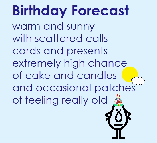 Birthday Forecast - A Funny Poem.