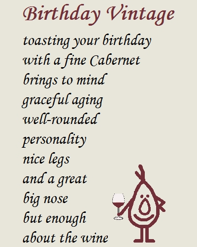 Birthday Vintage - A Funny Poem. Free Funny Birthday Wishes ECards