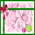 Happy Birthday With Pink & Green Gifts.
