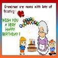 Loving Birthday Wish For Grandmom!