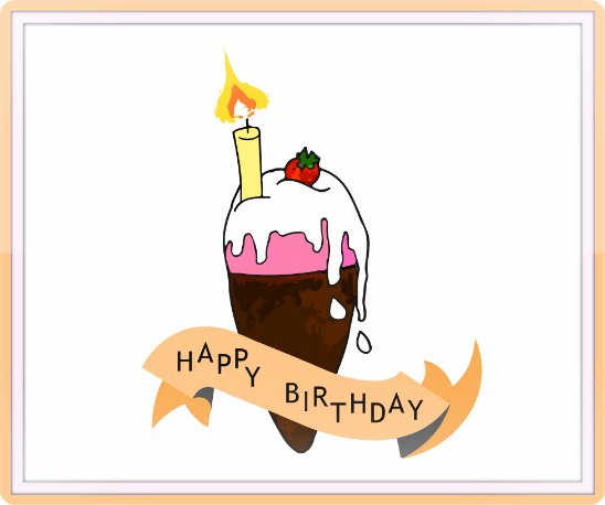Send Your Ecard Happy Birthday Ice Cream