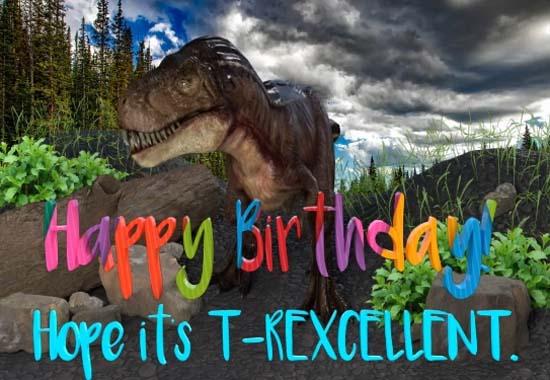 Happy Birthday T Rex