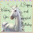 Unicorn Birthday Wishes.