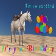 Bucking Birthday Horse
