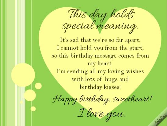 Long Distance Birthday Free For Husband Wife Ecards 123 Greetings